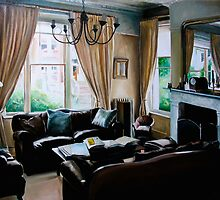 """""""16 Queen Street"""" - oil painting of a Victorian sitting room by James  Knowles"""