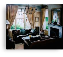 """16 Queen Street"" - oil painting of a Victorian sitting room Canvas Print"