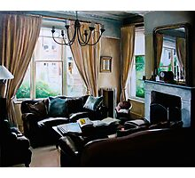 """16 Queen Street"" - oil painting of a Victorian sitting room Photographic Print"