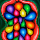 """Tooty Fruity"" - colorful abstract expressionistic oil painting by James  Knowles"