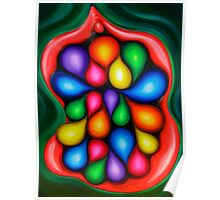 """Tooty Fruity"" - colorful abstract expressionistic oil painting Poster"
