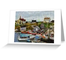Nova Scotia Peggy's Cove Greeting Card