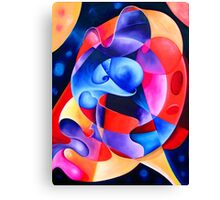 """""""A Transition in Time"""" - colorful abstract expressionistic oil painting Canvas Print"""