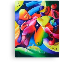 """""""Preconceptions"""" - colorful abstract expressionistic oil painting Canvas Print"""