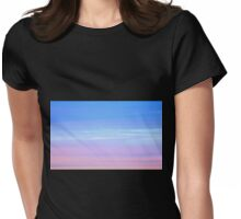 Afterglow in pastel colours Womens Fitted T-Shirt