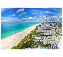 Postcard from South Beach, Miami, Florida Poster
