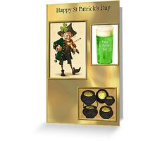 Green Beer & Gold Greeting Card