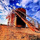Oil Storage Tanks - Saint Jo , Texas by jphall
