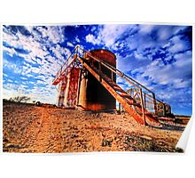 Oil Storage Tanks - Saint Jo , Texas Poster