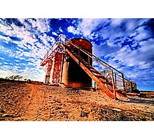 Oil Storage Tanks - Saint Jo , Texas Photographic Print