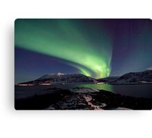 Aurora Borealis - Towards Grytoya island-2 Canvas Print