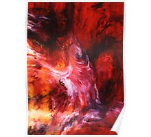 """""""The Dance"""" - abstract oil painting impression of human life energy Poster"""