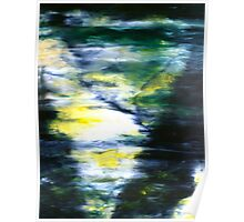 """""""Forest Three"""" - abstract oil painting impression of trees Poster"""
