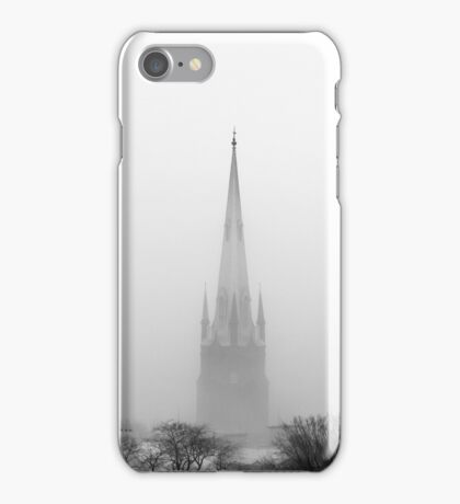 Chalmers Wesley United Church Black and White iPhone Case/Skin