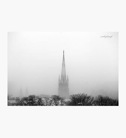 Chalmers Wesley United Church Black and White Photographic Print