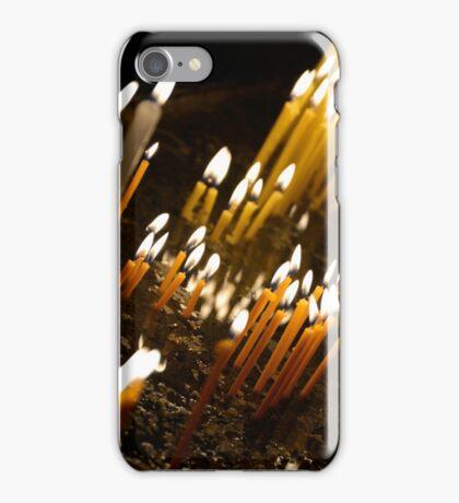 Candels in orthodox church iPhone Case/Skin