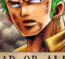 Wanted Zoro - One Piece Sticker