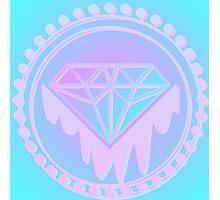 Pastel Diamond neon Screen print Photographic Print