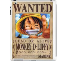 Wanted Luffy - One Piece iPad Case/Skin