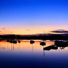 sunrise over Fareham creek by thermosoflask