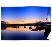 sunrise over Fareham creek Poster