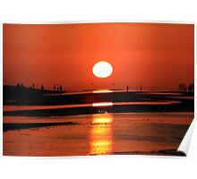 Sanibel Island sunrise Poster
