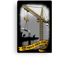 The Power Of Tower Crane Canvas Print