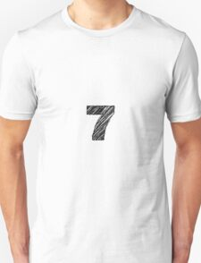 Sketchy Letter Series - Number 7 T-Shirt