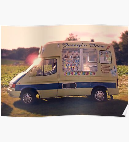 Childhood memories 1980's Ice Cream Van  Poster