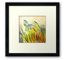 Snowdrops. 30 x 30. Acrylic Painting. Framed Print