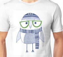 The cross eyed hipster owl Unisex T-Shirt