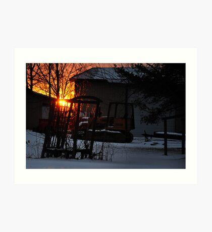 Flamethrower Sunset Art Print