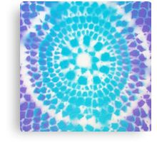 Fish Scale Mandala (spray paint) Canvas Print
