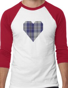 00496 MacPherson Dress Blue (Dance) Clan/Family Tartan Men's Baseball ¾ T-Shirt