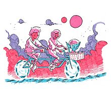 Luke & Leia Tandem Bike Photographic Print