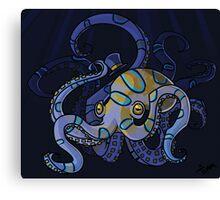 Classy Octopus Canvas Print