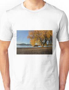 Fall trees beside lake Unisex T-Shirt