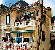 -Washday - Amalfi,  Italy by T.J. Martin