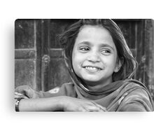 village girl in Rajasthan Canvas Print