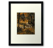 Copper Field Framed Print