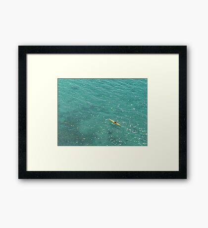 Tiffany Sea Framed Print