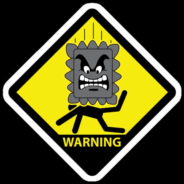 Crushing Hazard sign by D4N13L