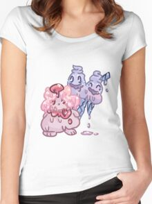 Sweets Pokemon - Slurpuff and Vanilluxe Women's Fitted Scoop T-Shirt