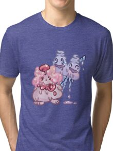 Sweets Pokemon - Slurpuff and Vanilluxe Tri-blend T-Shirt