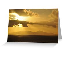 Sunset over South Uist from Neist Point Greeting Card