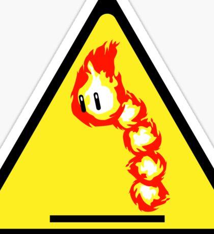 Fire Snake Hazard Sticker
