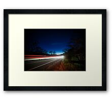I Drove All Night Framed Print