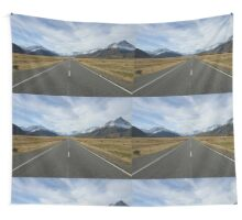Mountain highway Wall Tapestry