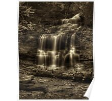 Ganoga Falls (faux vintage) Poster