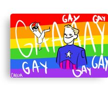 Cap Is Gay Canvas Print